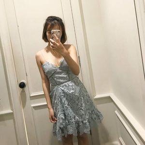 Dresses & Skirts - petite blue lace dress